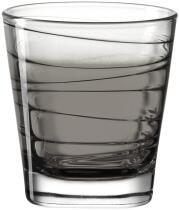 Leonardo Trinkglas VARIO STRUTTURA 250 ml anthrazit, 6er-Set