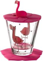 Leonardo Kindertrinkset BAMBINI 3-teilig Flamingo