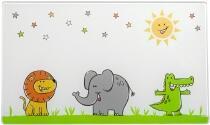 Leonardo Brettchen aus Glas BAMBINI 25x15 Löwe/Elefant/Krokodil, 4er-Set
