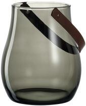 Leonardo Windlicht GIARDINO 22 cm dunkelgrau mit Henkel