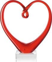 Leonardo Herzskulptur HEART 24 cm rot