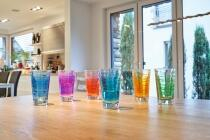Leonardo Trinkglas VARIO STRUTTURA 280 ml blau, 6er-Set