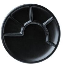 Küchenprofi Fondueteller in schwarz