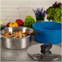 Kuhn Rikon HOTPAN® COMFORT Servierkasserolle blau 2L/18cm
