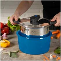Kuhn Rikon HOTPAN® COMFORT Servierkasserolle blau 3L/22cm