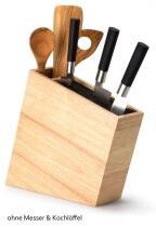 Continenta schräger Messerblock mit flexiblem Einsatz & Utensilienbehälter, unbestückt