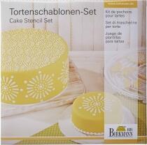Birkmann Torten Schablonen-Set Mandala, 2-teilig