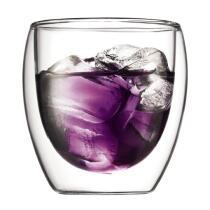 Bodum Glas Pavina, doppelwandig, 0,25 l, 2er Set