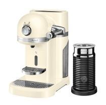 KitchenAid Nespressomaschine ARTISAN mit Milchaufschäumer creme