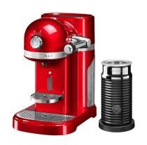 KitchenAid Nespressomaschine ARTISAN mit Milchaufschäumer empire rot