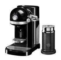 KitchenAid Nespressomaschine ARTISAN mit Milchaufschäumer onyx schwarz