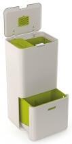 Joseph Joseph Abfall- und Recyclingbehälter Totem  60 in Steinfarben