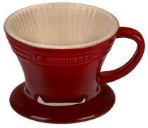 Le Creuset Kaffee Filter in kirschrot