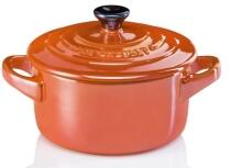 Le Creuset Mini Cocotte in ofenrot Metallic