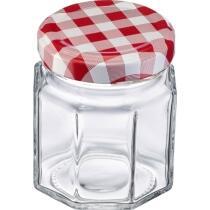 Westmark Einmachglas mit Schraubdeckel eckig 100 ml, 6er Set