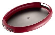 Wesco Tablett Spacy Tray oval in rubinrot