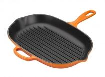 Le Creuset Grillpfanne Signature oval in ofenrot