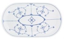 Kahla Tradition Platte, oval 32 cm in Blau Saks