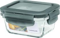 Lock & Lock Frischhaltebox rechteckig in grau, 160 ml