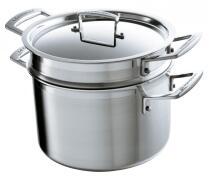 Le Creuset Pastatopf 3-ply mit Einsatz