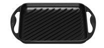 Le Creuset Grillplatte quadratisch aus Gusseisen in schwarz