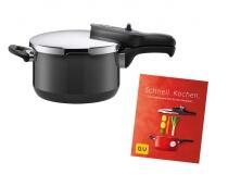 Silit Schnellkochtopf Sicomatic t-plus schwarz mit Kochbuch