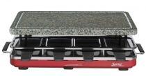 Spring Raclette8 mit Granitstein in rot