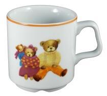 Pillivuyt Tasse für Kinder, Bären