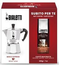 Bialetti Set Espressokocher Moka Express + Kaffee