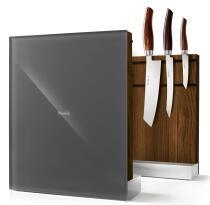 Nesmuk Messerhalter in Eiche geräuchert, Grau