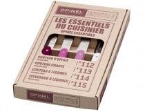 Opinel Küchenmesser-Set Les Essentiels Primarosa, 4-teilig