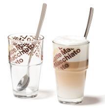 Leonardo Café Latte Glas Solo, 2er Set