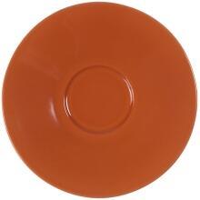 Eschenbach Porzellan Untertasse 12 cm in orange-braun