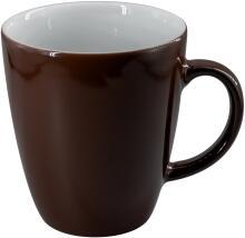 Eschenbach Porzellan Becher mit Henkel 0,35 l in kaffeebraun