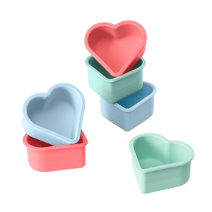 Lurch Muffin-Herz aus Silikon, 6er-Set