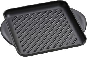 Le Creuset Grillplatte quadratisch in schwarz