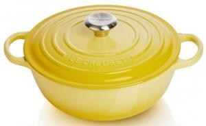 Le Creuset Familientopf La Marmite aus Gusseisen in citrus, 26 cm