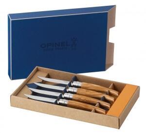 Opinel Steakmesser-Set Table Chic Olivenholz, 4-teilig