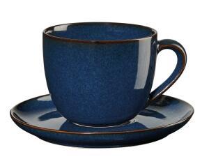 ASA Cappuccinotasse mit Untertasse Saisons midnight blue