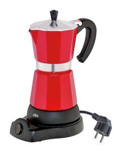 cilio Espressokocher Classico elektrisch in rot