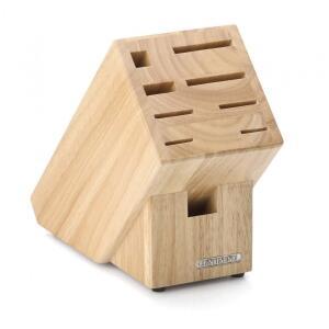 Continenta Messerblock aus Gummibaumholz, unbestückt