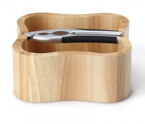 Continenta Nussschale aus Gummibaumholz mit Qualitätsknacker