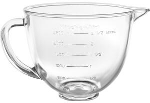 KitchenAid Glasschüssel für Mini, mit Griff, 3,3 L