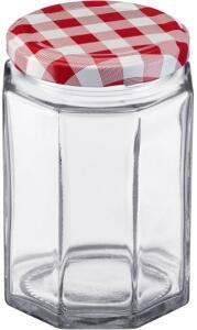 Westmark Einmachglas mit Schraubdeckel eckig 288 ml, 6er Set