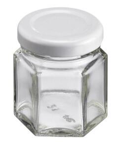 Westmark Einmachglas mit Schraubdeckel eckig 45 ml, 8er Set