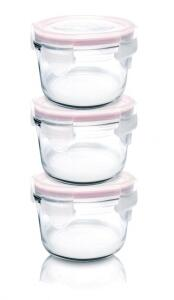 Glasslock Baby Meal Set rund, 3 Teile
