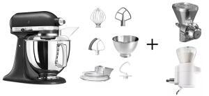 KitchenAid Küchenmaschine ARTISAN 175PS gusseisen Backprofi-Set
