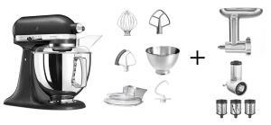KitchenAid Küchenmaschine ARTISAN 175PS gusseisen Kochprofi-Set