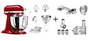 KitchenAid Küchenmaschine ARTISAN 175PS liebesapfelrot Fitness-Set