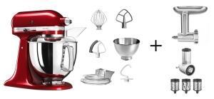 KitchenAid Küchenmaschine ARTISAN 175PS liebesapfelrot Kochprofi-Set